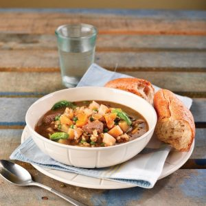 Lamb and barley soup