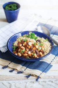 Moroccan-style homemade baked beans