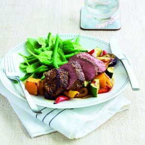 Moroccan lamb and roasted veges