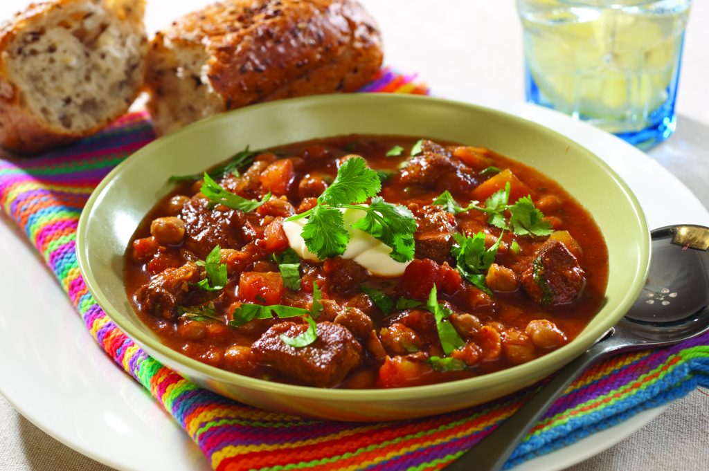 Moroccan-style lamb and chickpea soup