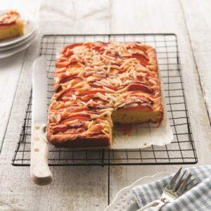 Nectarine and almond bake