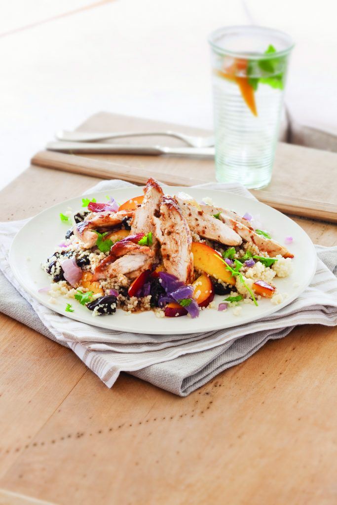Nectarine and prune couscous