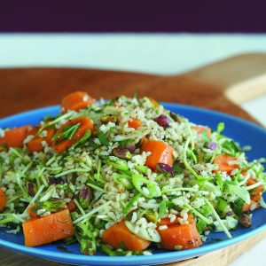 Nutty brown rice salad