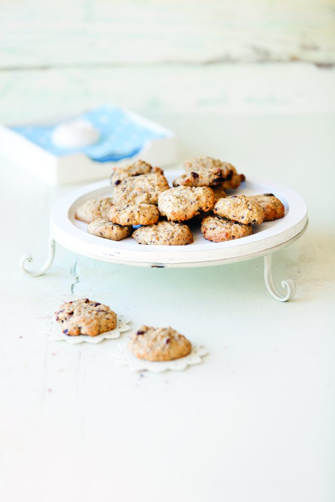 Oats, coconut and sultana cookies
