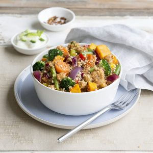 One-pan curried couscous bowls