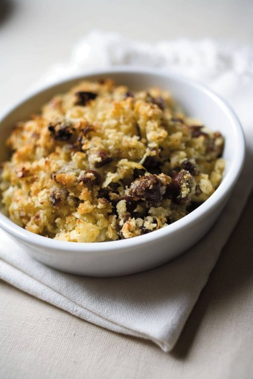 Onion and date herby stuffing