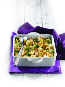 Orecchiette with roasted cauliflower, pine nuts and green olives