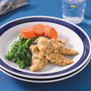 Oven-baked parmesan chicken tenderloins