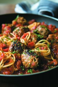 Parsley and fennel meatballs with spaghetti