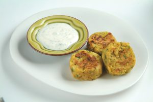 Parsnip and coriander cakes