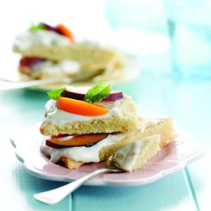Peach and plum shortcake