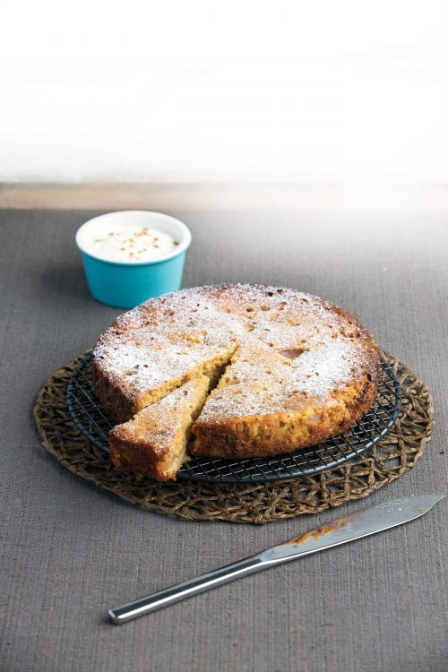 Pear and double ginger cake