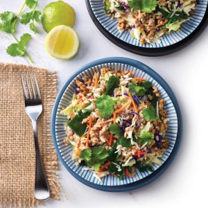 Pork satay salad