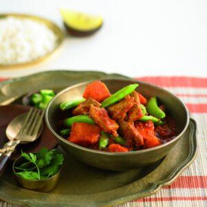 Pork and kumara curry