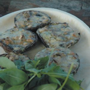 Portobello mushrooms with blue cheese