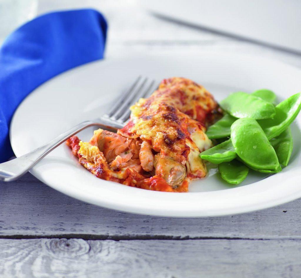 Prawn cannelloni