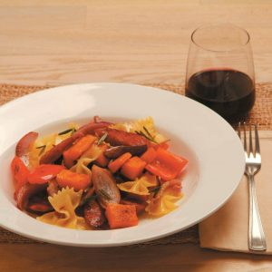 Pumpkin and sausage pasta