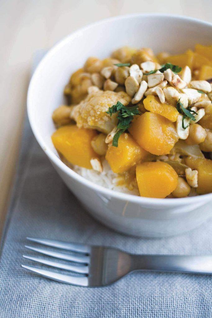 Pumpkin, chickpea and cauliflower curry