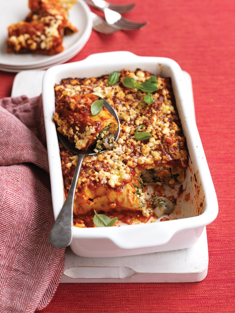 Pumpkin, spinach and ricotta cannelloni