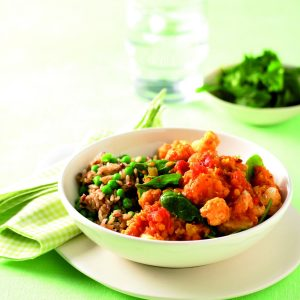 Pumpkin and lentil curry