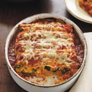 Pumpkin and spinach cannelloni