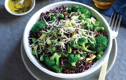 Quick green vege pilaf