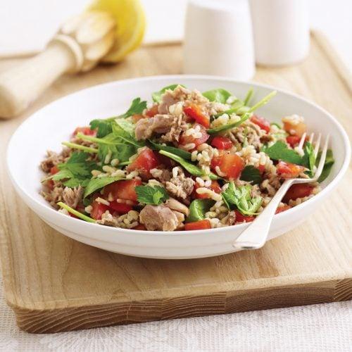 Quick tuna and rice salad