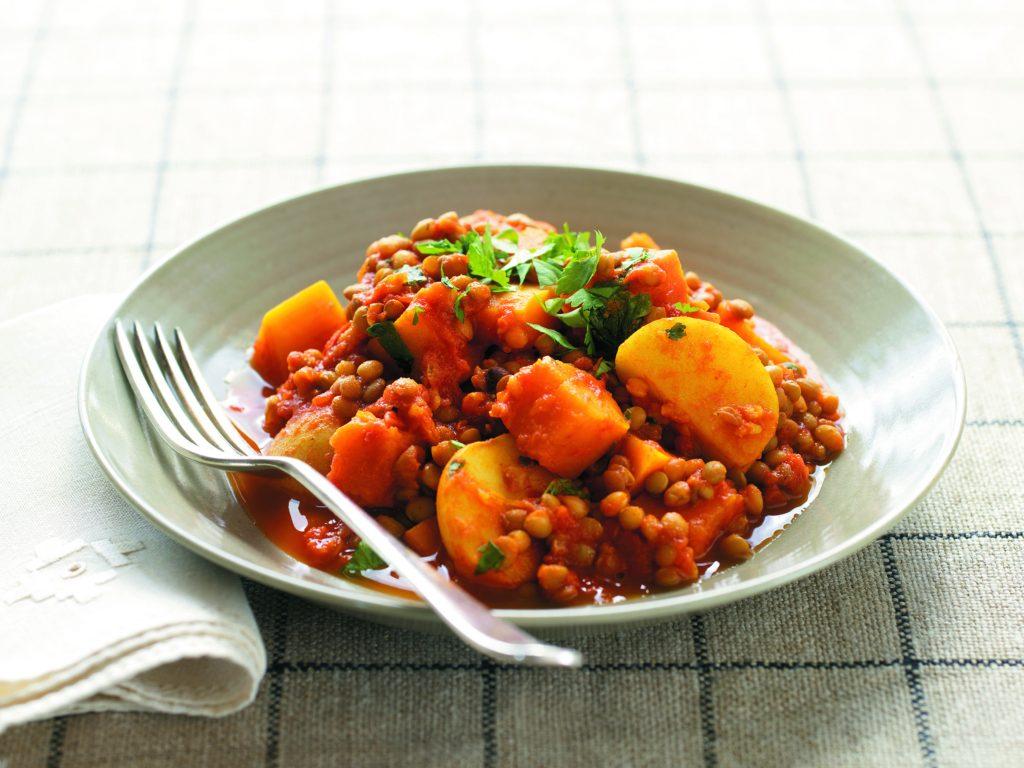 Quick lentil curry