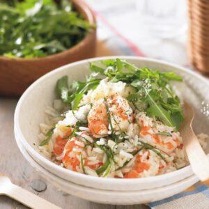 Quick prawn risotto
