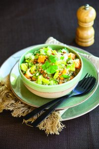 Quinoa with leek and pumpkin