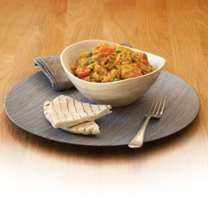 Red lentil and vegetable dhal