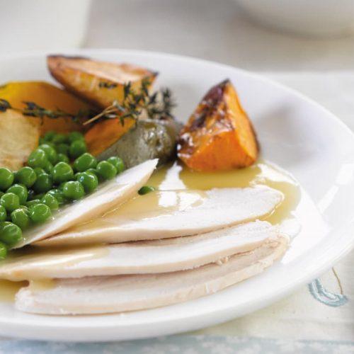 Roast chicken dinner made healthier