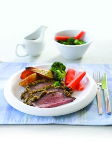 Roast beef with horseradish and herb crust