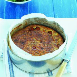Roast tomato and ricotta frittata