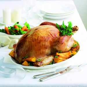 Roast turkey with traditional herb stuffing