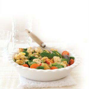Roasted cauliflower and carrot salad