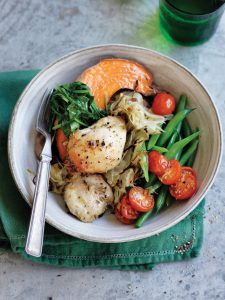Roasted fennel and chicken tray bake