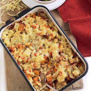 Roasted garlic and pumpkin macaroni