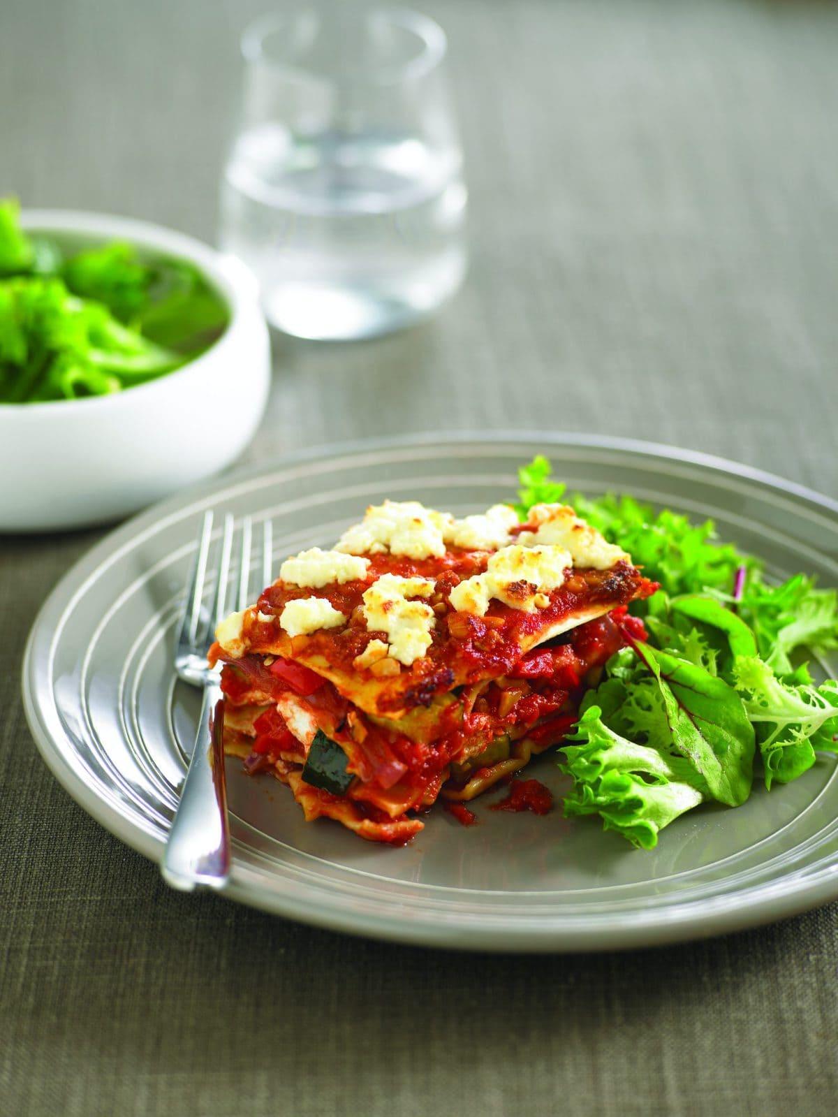 Roasted vegetable lasagne healthy food guide roasted vegetable lasagne forumfinder Gallery