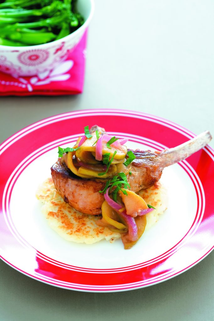 Rosti with pork and apple