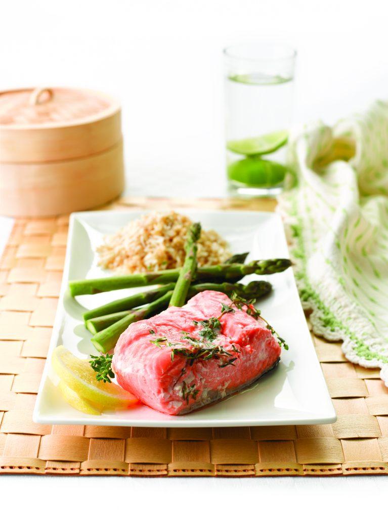 Salmon with asparagus
