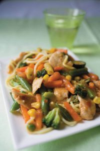 Satay chicken stir-fry