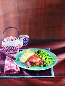 Seared tuna and wasabi mash
