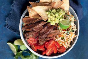 Smoky beef and slaw nachos bowl