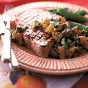 Soy-glazed tuna