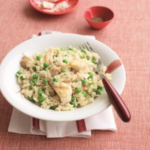 Speedy chicken risotto