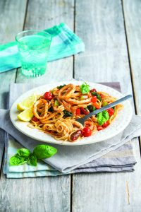 Speedy squid spaghetti