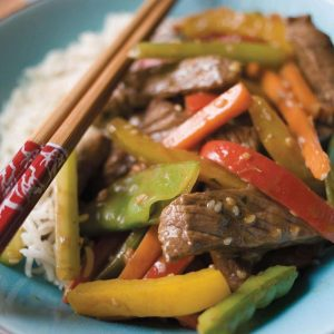 Spicy beef stir-fry