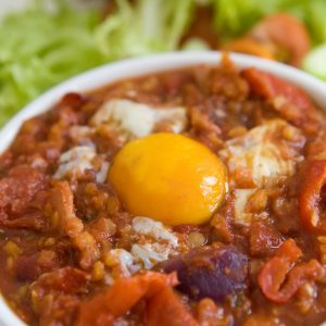 Spicy baked eggs