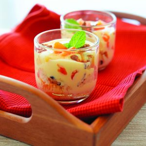 Spicy fruit trifle